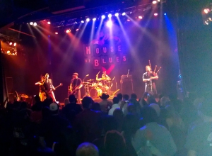 A band with an Irish punk rock style at the House of Blues in Los Angeles, Calif. on Nov. 23, 2014.